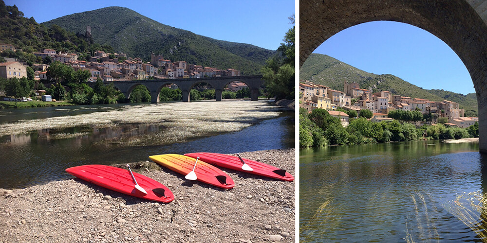 Stand-up paddleboarding Roquebrun