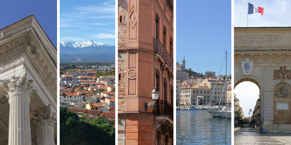 5 Southern French cities