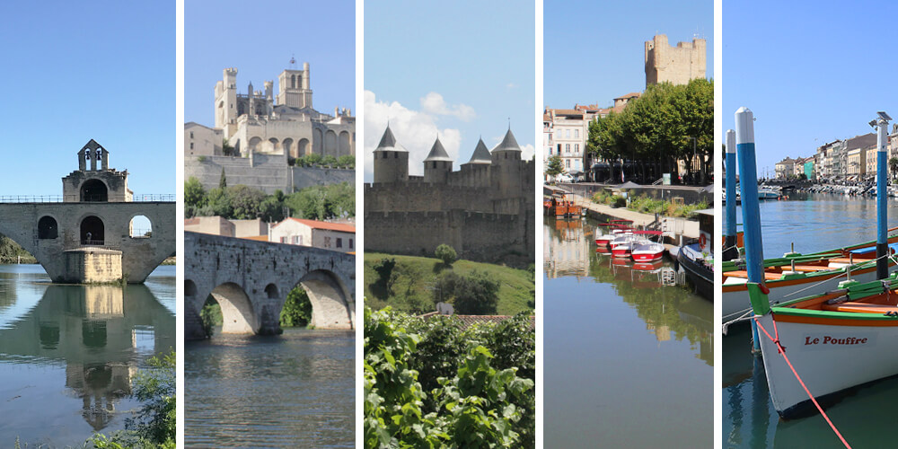 Southern French medium-sized towns